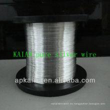 Hebei anping KAIAN 0.5mm alambre 9999 alambre de plata puro