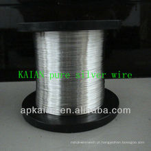 Hebei anping KAIAN fio 0.5 milímetros 9999 fio de prata puro