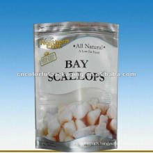 Opp plastic Frozen food packaging bag for bay scallops