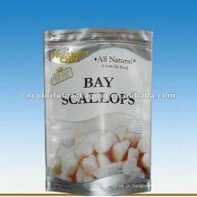 Saco de empacotamento congelado plástico do alimento de Opp para vieiras de baía
