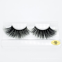 2020 Customized Private Label Mink Lashes 25mm Lashes 3D 5D Real Mink Eyelashes with Stock Eyelash Package Box