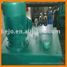 Máquina formadora de rolo para barreira de segurança metálica