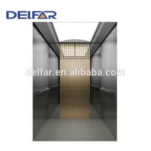 Delfar elevador de passageiros baratos com decoração bonita e melhor qualidade