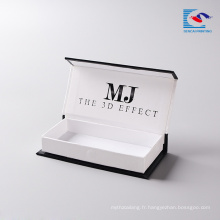 Alibaba cils fabricant vison cils en gros personnalisé emballage carton avec propre logo pour vison visons 3d vison