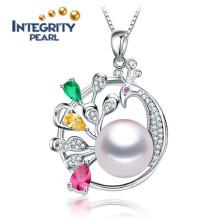 Colgante de perlas de agua dulce de moda 10-11mm AAA collar de perlas en forma de animal