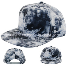 Tissu en polyester à imprimé plat Bill Snapback Baseball Cap (TMFL0710)