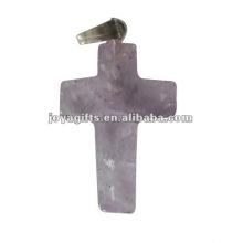 Colgante Amethyst de la cruz de la piedra preciosa