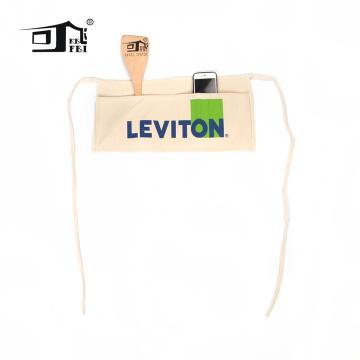 Meio avental Avental-Cor bege do algodão natural do meio estilo