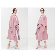 Wholesale Fashion Women Outwear Long Winter Coat with Hood