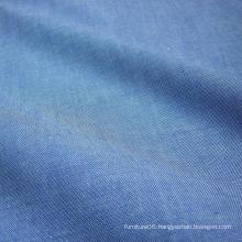 Blue Denim 100% Cotton Chambray Fabric