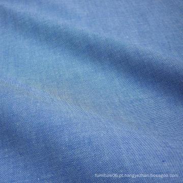 Tecido de Chambray 100% algodão denim azul