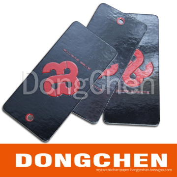 High Quality Paper Paper Cardcoard Hang Tag with Surface Spot UV (DC-TAG013)