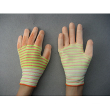 13G Mixed Color Polyester Liner White PU Work Glove
