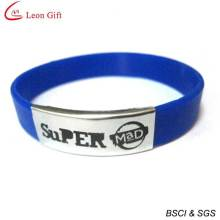 Wholesale Custom Logo Silicone Wristband with Metal Clasp (LM1634)