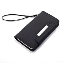 Magnetic Buckle Wallet Style Moile Phone Pouch for Samsung Galaxy S5 (RTU-86)