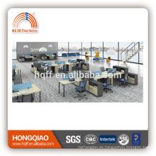 (MFC) PT-26-1 estación de trabajo de oficina de diseño moderno para 2 personas estación de trabajo de oficina de MDF de estructura metálica