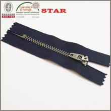 # 3 Metal Antique Silver Close End Zipper für Jean Zipper