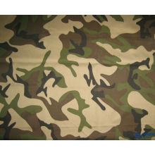 tela estampada de camuflaje 65/35 20 * 16 ribstop de poliéster y algodón para policía y militares