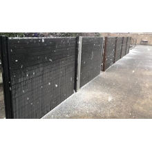 easy installation composite wood privacy garden wpc fence better than vinyl pvc fence
