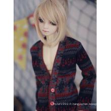Pull rouge BJD Clothes pour poupée articulée 70cm/SD/MSD