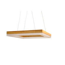 Rectangle Wood LED Hanging Lamp (KAM-JHA)
