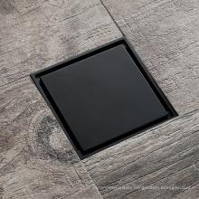 HIDEEP Line Mirror Square Full Black Floor Drain