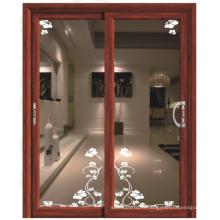 Porte coulissante salle de bain en aluminium porte coulissante pour salle de bain