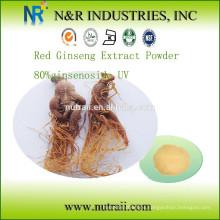 Extracto de Ginseng Rojo Polvo 80% ginsenoside UV