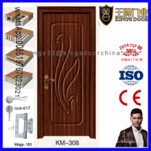 Puerta de madera revestida del MDF del raspado del PVC