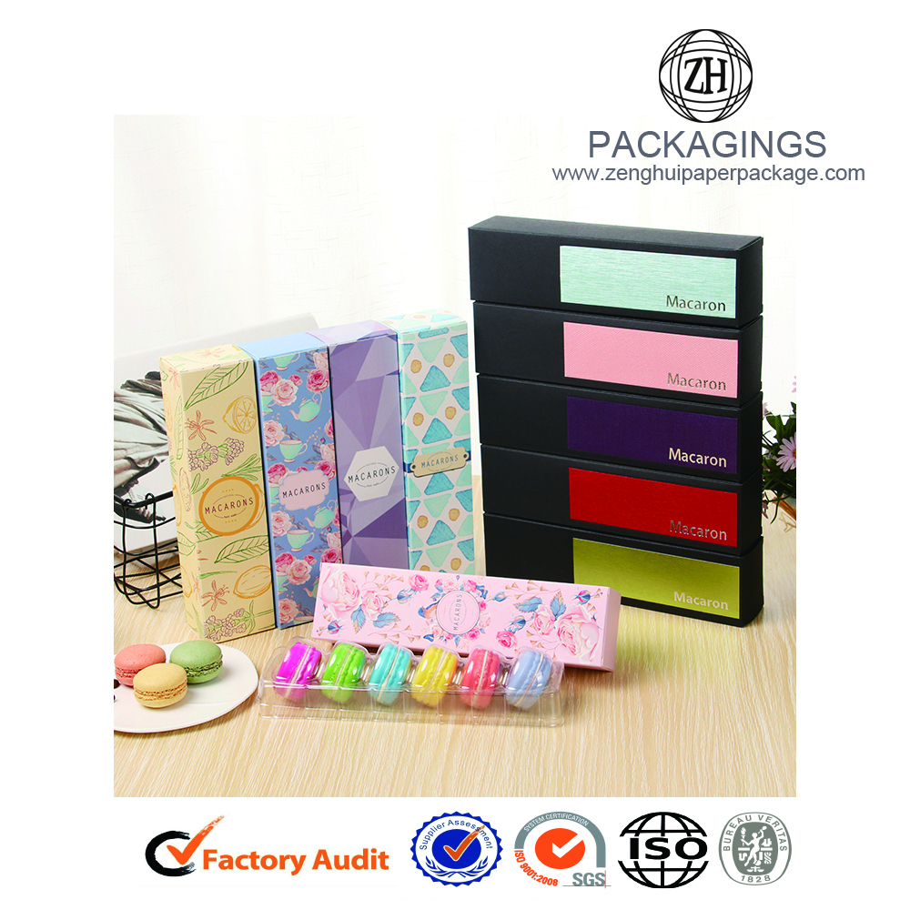 New Fancy Macarons Papierverpackung