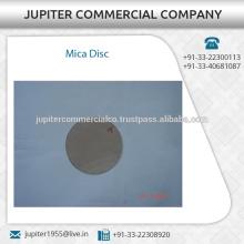 Chemische Beständigkeit Round Mica Disc Verfügbar von beliebten Lieferanten