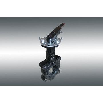 Wafer Typ-Doppel-Achsen-Absperrklappe mit Handlever