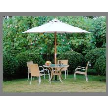 Frame de madeira forte barato bom pátio guarda-chuva