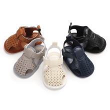 Superstarer Summer Fashion Breathable PU Toddler Shoes Quality Non Slip Baby Shoes From China Factory