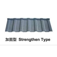 Strenghten tipo de pedra revestida telha de metal