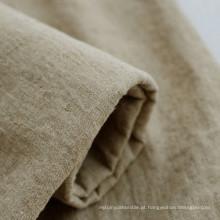 60% linho 40% algodão linho macio tecido de algodão