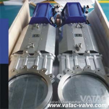 Pneumatic Operated Cast Steel Wcb/CF8/CF8m Wafer Knife Gate Valve
