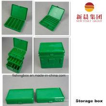 Portable Green Color 2 Tray Storage Box