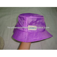 foldabel bucket hats with embossed logo