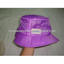 Chapéus de balde de foldabel com logotipo em relevo