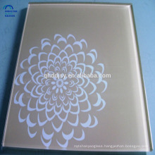broken tinted colored tempered silkscreen printing glass 8mm thick pieces for building in China