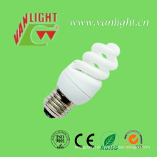 La eficacia alta T3 completo espiral CFL 9W Energey bombilla de ahorro