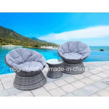 360 градусов вращающийся Открытый ротанг / Wicker досуг Садовая мебель