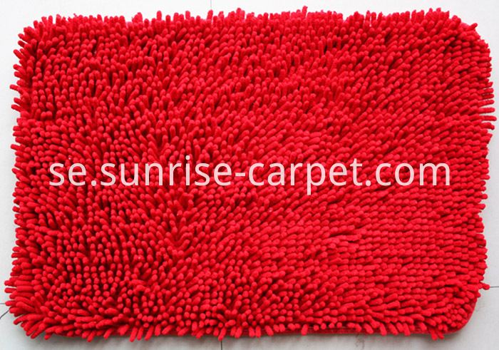Chenille Rugs Red