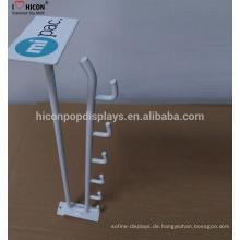 Custom Design Display Racks Zubehör Hanging Metal Display 5 Haken ohne Regal Talker