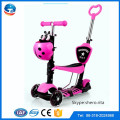 New arrival low price three wheel sliding scooter,CE approved pedal scooter kids,push bike scooter