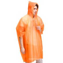 Hot sales Orange Reflective Disposable Rain Gear Ponchos Raincoats For Boys Girls