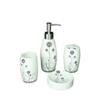 cheap new design ceramic bathroom set with soap dish