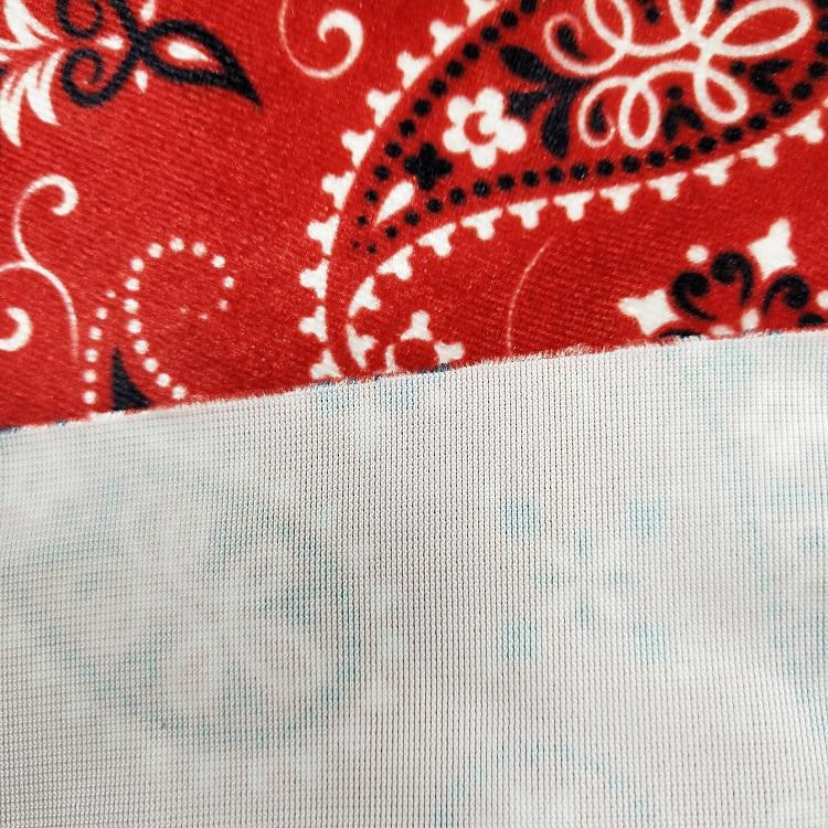 Digital Printed Stretch Velvet Fabric