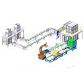 Автоматическая машина для вторичной упаковки с подачей пакетов